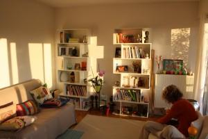 Où me trouver : Vue de mon cabinet en fin de journée Frédérique Bricaud - Psychothérapie Gestalt Paris 15